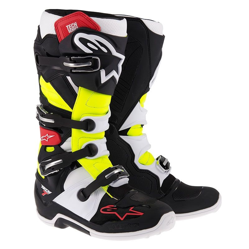 Ботуши ALPINESTARS TECH 7 BLACK/YELLOW/RED