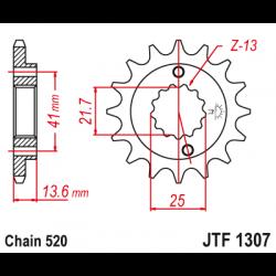 Предно зъбчато колело (пиньон) JTF1307,14