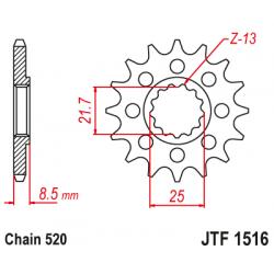 Предно зъбчато колело (пиньон) JTF1516,16