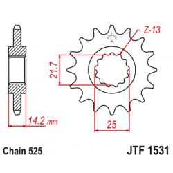 Предно зъбчато колело (пиньон) JTF1531,15