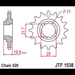 Предно зъбчато колело (пиньон) JTF1538,13