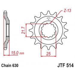 Предно зъбчато колело (пиньон) JTF514,15