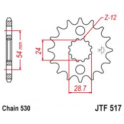 Предно зъбчато колело (пиньон) JTF517,16