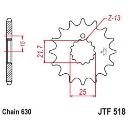 Предно зъбчато колело (пиньон) JTF518,13