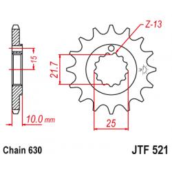 Предно зъбчато колело (пиньон) JTF521,15