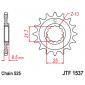 Предно зъбчато колело (пиньон) JTF1537,15