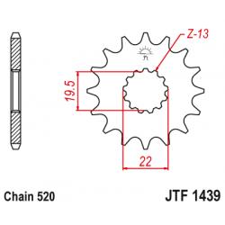 Предно зъбчато колело (пиньон) JTF1439,15