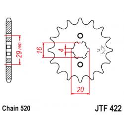 Предно зъбчато колело (пиньон) JTF422,15