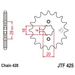 Предно зъбчато колело (пиньон) JTF425,12