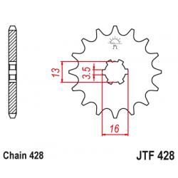 Предно зъбчато колело (пиньон) JTF428,15