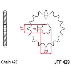 Предно зъбчато колело (пиньон) JTF429,12