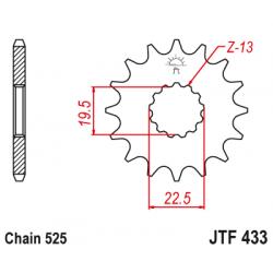 Предно зъбчато колело (пиньон) JTF433,15