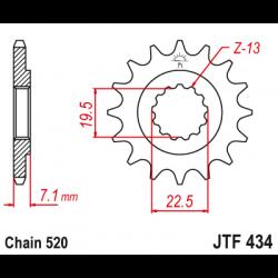 Предно зъбчато колело (пиньон) JTF434,16