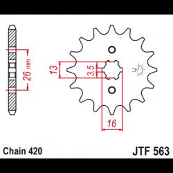 Предно зъбчато колело (пиньон) JTF563,12