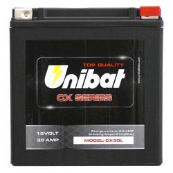 Мотоциклетен акумулатор UNIBAT CX30L 30Ah, 12V