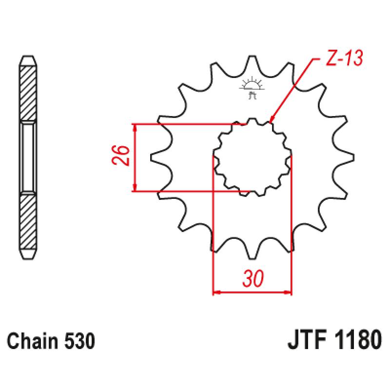 Предно зъбчато колело (пиньон) JTF1180,17