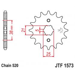 Предно зъбчато колело (пиньон) JTF1573,14