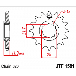 Предно зъбчато колело (пиньон) JTF1581,14