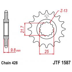 Предно зъбчато колело (пиньон) JTF1587,19