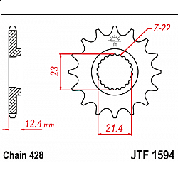 Предно зъбчато колело (пиньон) JTF1594,15
