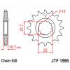 Предно зъбчато колело (пиньон) JTF1595,17 thumb
