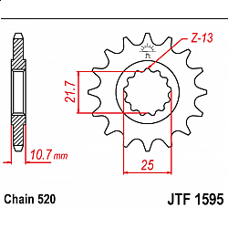 Предно зъбчато колело (пиньон) JTF1595,17