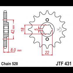 Предно зъбчато колело (пиньон) JTF431,12