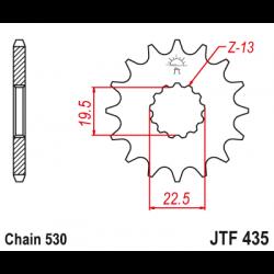 Предно зъбчато колело (пиньон) JTF435,14