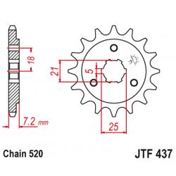 Предно зъбчато колело (пиньон) JTF437,14