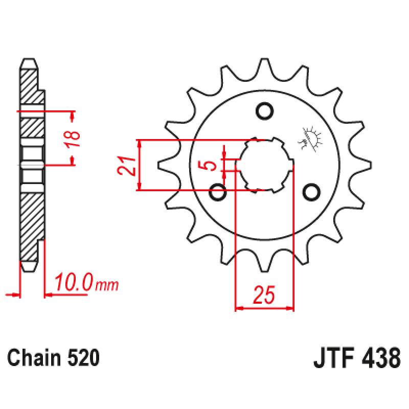 Предно зъбчато колело (пиньон) JTF438,15
