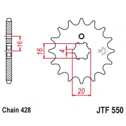 Предно зъбчато колело (пиньон) JTF550,16