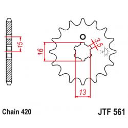 Предно зъбчато колело (пиньон) JTF561,16