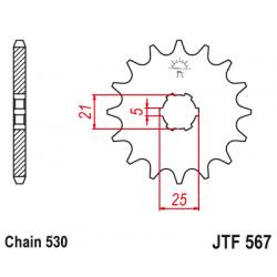 Предно зъбчато колело (пиньон) JTF567,16