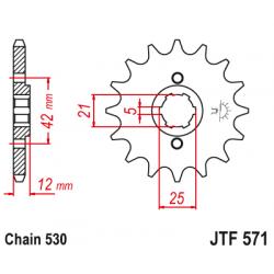 Предно зъбчато колело (пиньон) JTF571,15