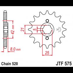 Предно зъбчато колело (пиньон) JTF575,14