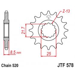 Предно зъбчато колело (пиньон) JTF578,15
