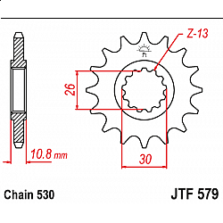 Предно зъбчато колело (пиньон) JTF579,15