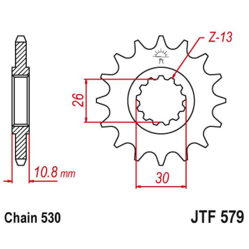 Предно зъбчато колело (пиньон) JTF579,17