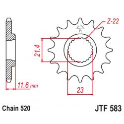 Предно зъбчато колело (пиньон) JTF583,13