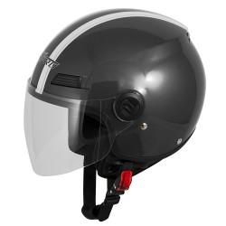 Каска за скутер A-PRO FEVER DARK GRAY