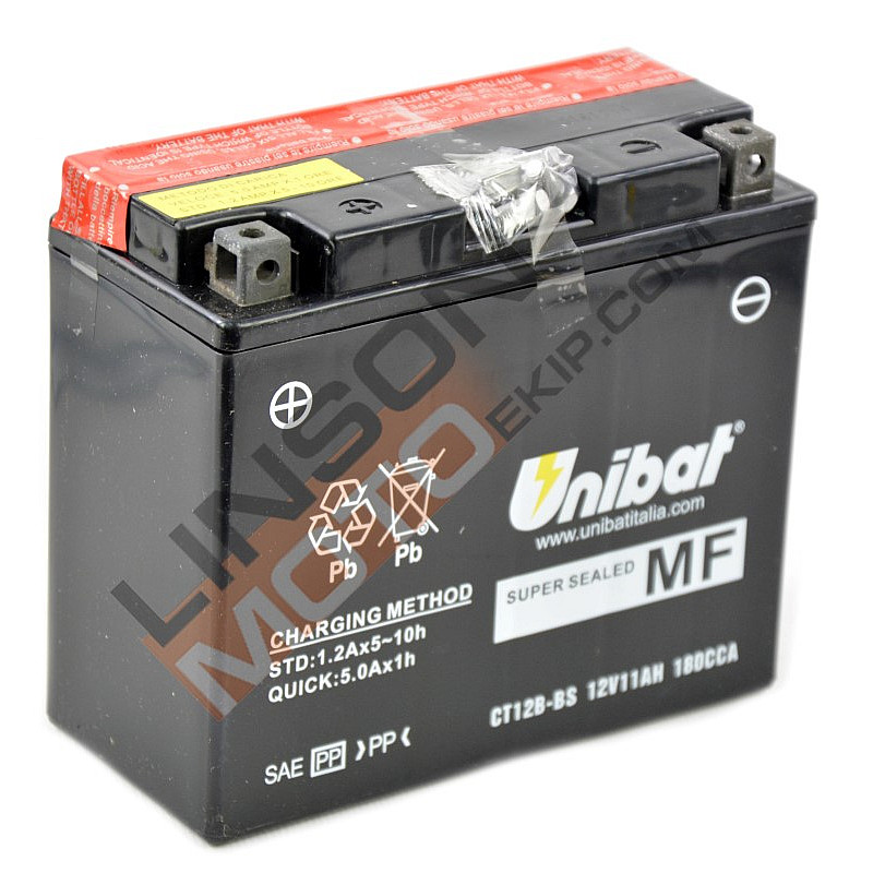Акумулатор за мотор Unibat 11 Ah, 12 V - CT12B-BS thumb