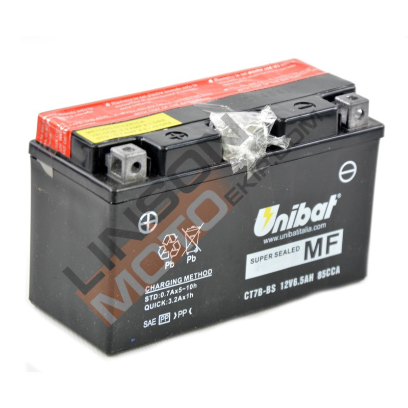 Акумулатор Unibat 6.5 Ah, 12 V - CT7B-BS