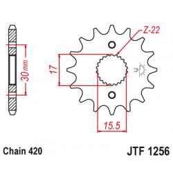 Предно зъбчато колело (пиньон) JTF1256,14