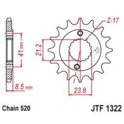 Предно зъбчато колело (пиньон) JTF1322,13
