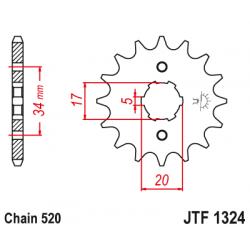 Предно зъбчато колело (пиньон) JTF1324,14