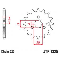 Предно зъбчато колело (пиньон) JTF1325,12