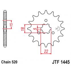 Предно зъбчато колело (пиньон) JTF1445,14