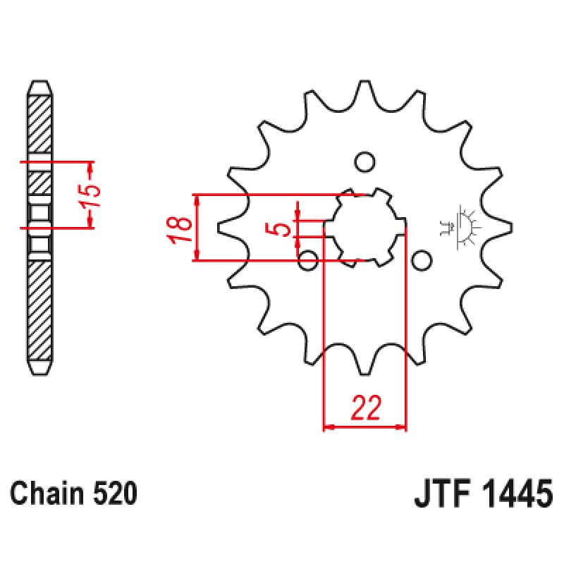 Предно зъбчато колело (пиньон) JTF1445,11
