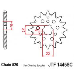 Самопочистващо се предно зъбчато колело (пиньон) JTF1445SC,12