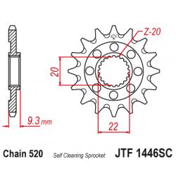 Самопочистващо се предно зъбчато колело (пиньон) JTF1446SC,14
